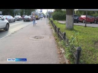 Ярославцы обеспокоены: в центре города внезапно начался демонтаж чугунных ограждений