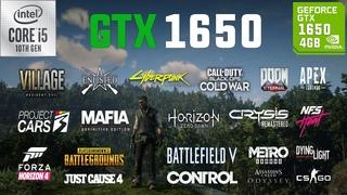GTX 1650 4GB Test in 25 Games in 2021