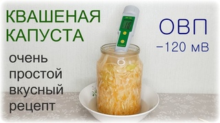 ФЕРМЕНТИРУЕМ КАПУСТУ. Натуральный пробиотик. Квашеная капуста ОВП -120 мВ !