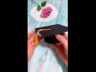 Мастер-класс: коробочка с конфетами в подарок выпускнику