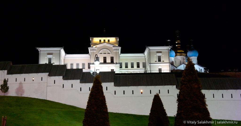 Ночной кремль в Казани, 2020
