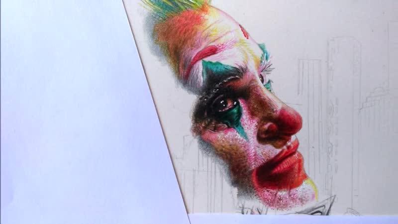 Часть 10 Рисунок плаката Готэм сити Специальное упоминание Джокера Дж Феникса