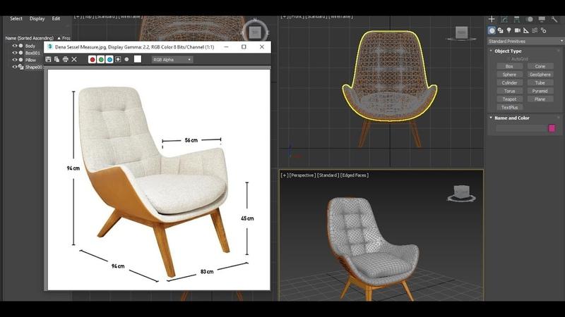 3d modeler Dena Sessel chair