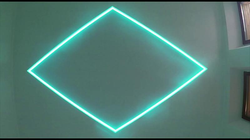 Парящий натяжной потолок Звездное небо на белом полотне Descor