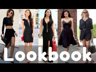 2018 trendy summer black dresses / outfits collection | summer fashion lookbook