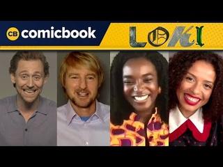 The Cast of 'Loki' Interview (Tom Hiddleston, Owen Wilson, Gugu Mbatha-Raw, Wunmi Mosaku)