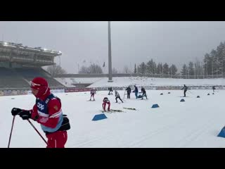 тренировка (попрактиковаться в смене лыж) 2