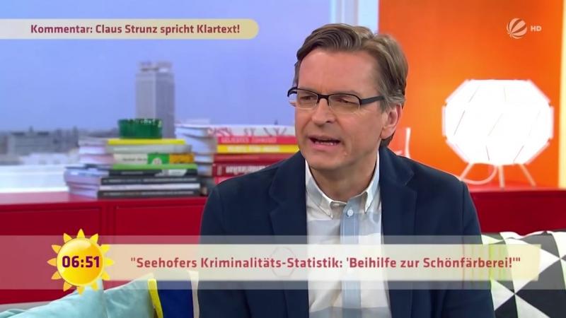 -Deutschland ist NICHT sicherer geworden-- Belügen uns Politiker- - SAT-1 Frühstücksfernsehen - TV
