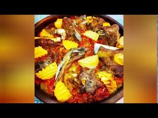 Баранина с овощами, запеченная в духовке (Sevil Musayeva)