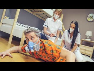 Fake Hostel - Stuck Between Two Nurses / Jennifer Mendez, Ariela Donovan