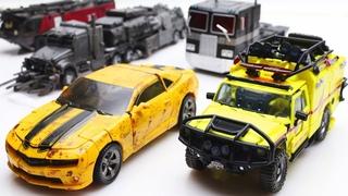Transformers Stop Motion - Bumblebee VS Optimus Prime, Ratchet & Lego Robots Police Prison Break 4k