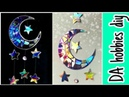 CD craft / MOON STARS home decor !! EASY WAY TO CUT CD
