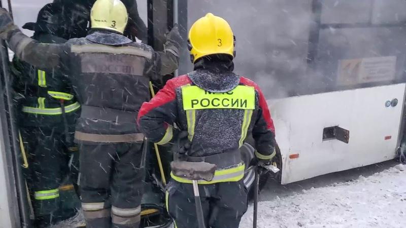 Во Владимире загорелся автобус маршрута № 14