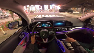 2020 Mercedes Benz GLS POV Night Drive NYC Time Square Test Drive 4K 60FPS HD Video