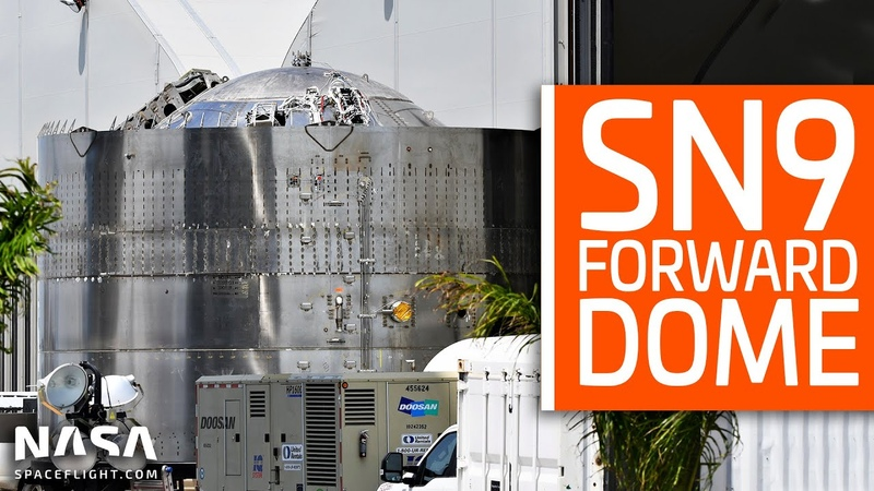 SpaceX Boca Chica SN9 Forward Dome Details Thrust Simulator Moved to Pad A