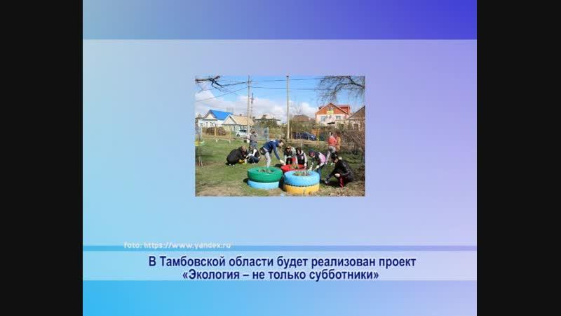 Фонд президентских грантов поддержал тамбовский проект «Экология – не только субботники», предложенный НКО «ЭкоСфера».