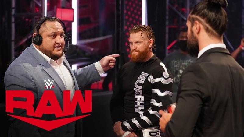 The Kingslayer Samoa Joe stands up to Seth Rollins Raw Aug 3 2020