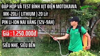 [Test] Bình xịt điện Pin Lithium (Nai Vàng) 20 Lít Motokawa MK_20Li 8AH-12V |Giá |