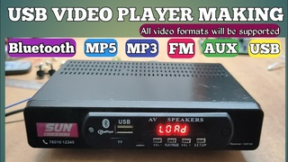 usb video audio player  #mp3 #Bluetooth #fm #aux #tf #mp4 #mp5 #audio #video #player