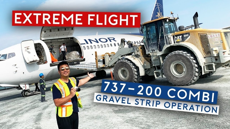 EXTREME FLIGHT - B737-200 Combi Gravel Strip Operation