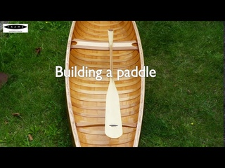 Building a birch bark style canoe with plywood - making a paddle