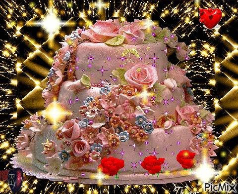 они поздравление с днем рождения с тортом гиф картинка