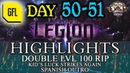 Path of Exile 3 7 LEGION DAY 50 51 Highlights DOUBLE LVL 100 RIP KID'S RNG SPANISH OUTRO