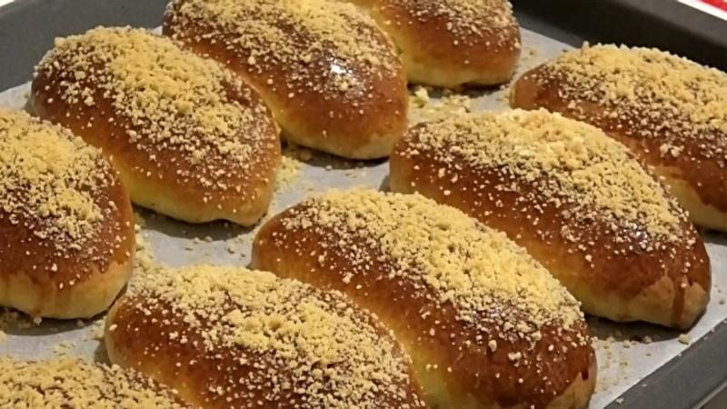 Сдобные булочки со штрейзелем Butter buns with streyzel