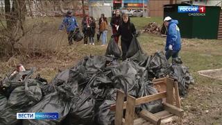 Смоленские активисты убрали проспект Строителей