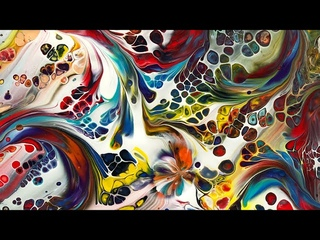 Amazing spiral pour New Swifty Swipey Tool Big Tutti fruiti Gems and feathering