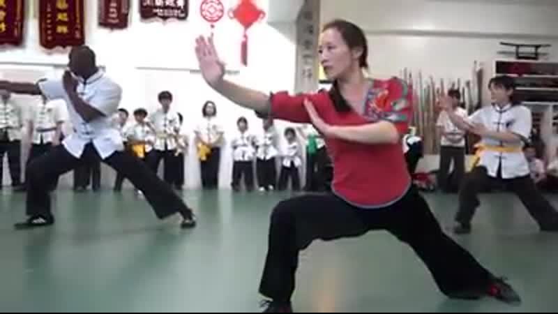 Японцы практикуют китайские боевые искусства