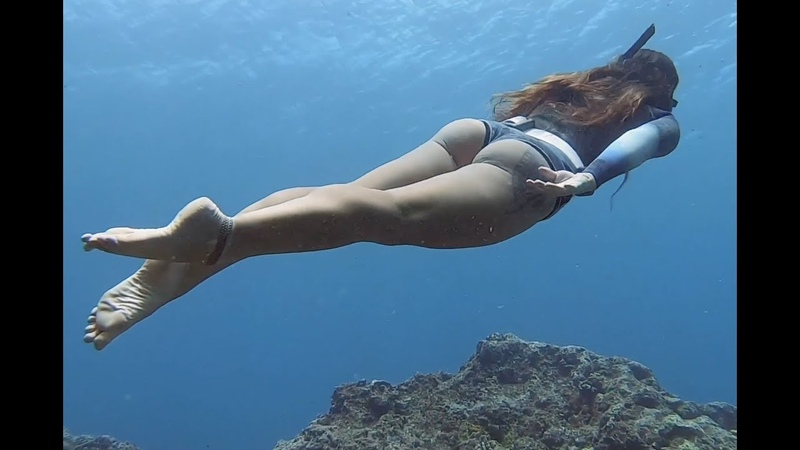 LEANING ON MYSELF No fins cave freediving w Jenna