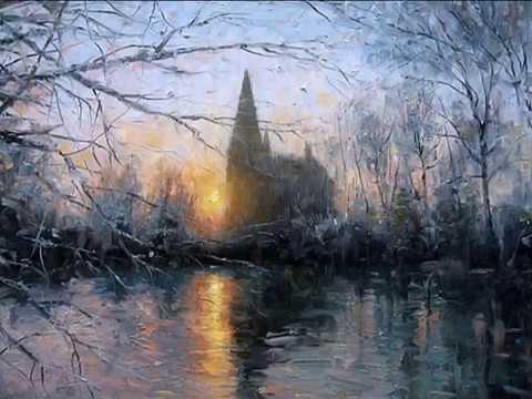 Зима кистью художников импрессионистов и романтический саксофон