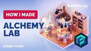 Alchemy Lab in Blender  - 3D Modeling Process | Polygon Runway