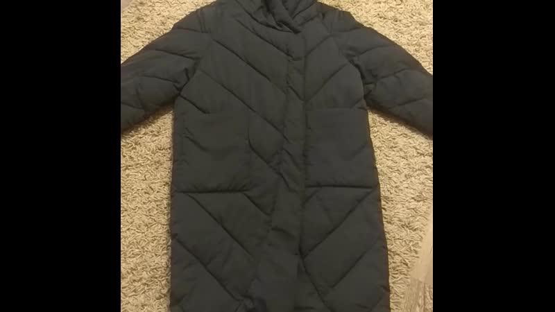 Новое пальто одеяло Размер указан m оверсайз на xs m 40 44 рус Длина 100 см ширина 55 см 2 накладных кармана