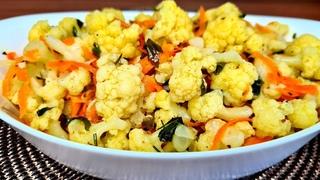 ЦВЕТНАЯ КАПУСТА ПО КОРЕЙСКИ/Рецепт вкусной корейской закуски/ салат из цветной капусты/ Кухня Ирины!