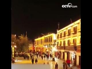 Световое шоу под названием «Я люблю тебя, Китай» в Лхасе
