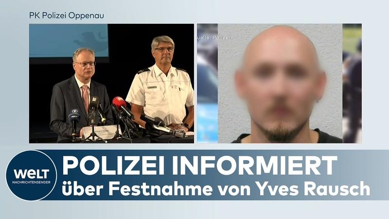 PRESSEKONFERENZ der POLIZEI zur Festnahme von Wald-Mann Yves Rausch
