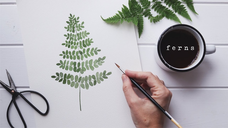 How To Paint A Watercolor Fern Simple Tutorial