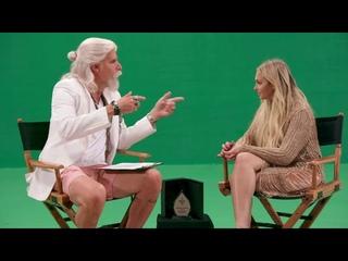 Who is America: Sacha Baron Cohen as Gio Monaldo with Corinne Olympios