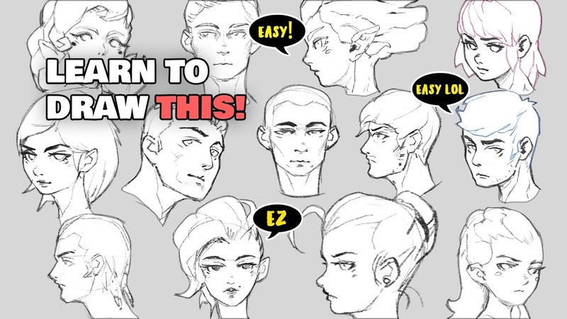HOW TO DRAW SIMPLE FACES easy