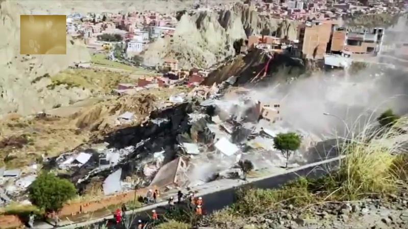 Deslizamiento en La Paz Bolivia Abril 30 2019