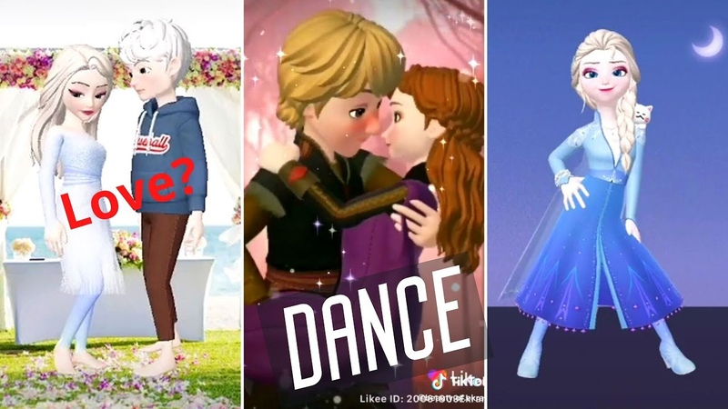 FROZEN Elsa Jack Anna Kristoff Love Story and dancing TikTok 2