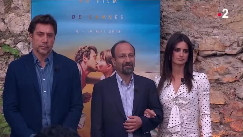 Penelope Cruz, Javier Bardem, Asghar Farhadi - On nest pas couché 11 mai 2018 ONPC