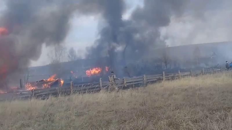 Пожар в селе Большой Вьяс