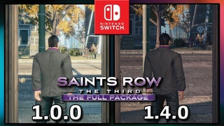 Saints Row: The Third | Patch  VS  | Frame Rate TEST on Switch