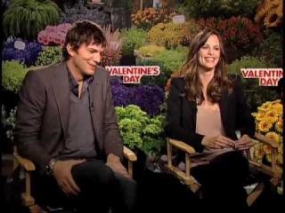 Ashton Kutcher and Jennifer Garner Valentine's Day interview
