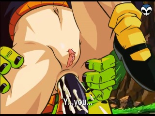 As for android 18! you are raped by the cell!(dbz hentai)