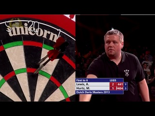 Adrian Lewis vs Michael Hurtz (Dutch Darts Masters 2013 / First Round)