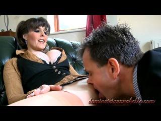 Dominatrix Annabelle'' Office slave to pleasure his demanding female boss''